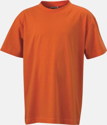 Mörkorange Barn t-shirtar av kvalitetsbomull med eget tryck