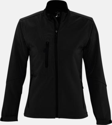 Svart (dam) Softshell jackor i herr- & dammodell med reklamtryck
