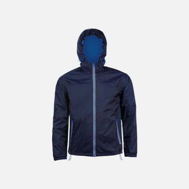 Marinblå/Royal Blue Vind- och vattentäta jackor med reklamtryck