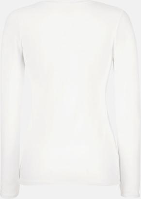 Långärmad damt-shirt med reklamtryck