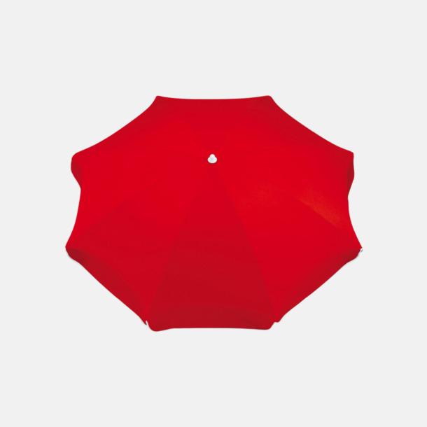 Röd Parasoller med eget reklamtryck