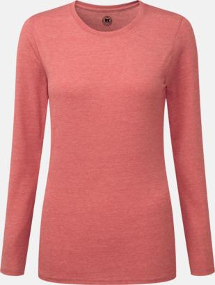 Red Marl (dam) Färgstarka långärms t-shirts i herr-, dam och barnmodell