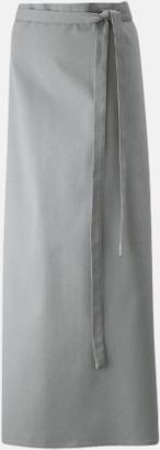 Silvergrå (100 x 100 cm) Förkläden i 5 varianter med reklamtryck