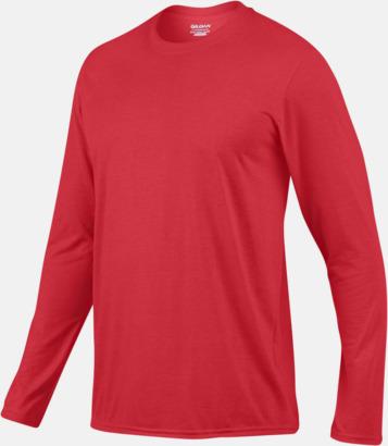 Herr (2) Långärmade funktionströjor för vuxna och barn med reklamtryck
