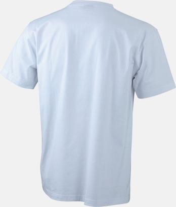 Vit (rygg) T-shirts med bröstficka i matchande färg - med reklamtryck
