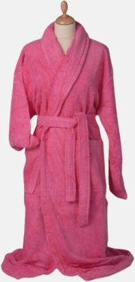 Rosa Färgglada badrockar med brodyr
