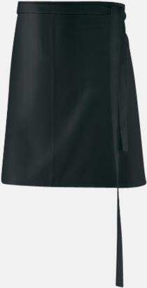 Svart (80 x 45 cm) Förkläden i 5 varianter med reklamtryck