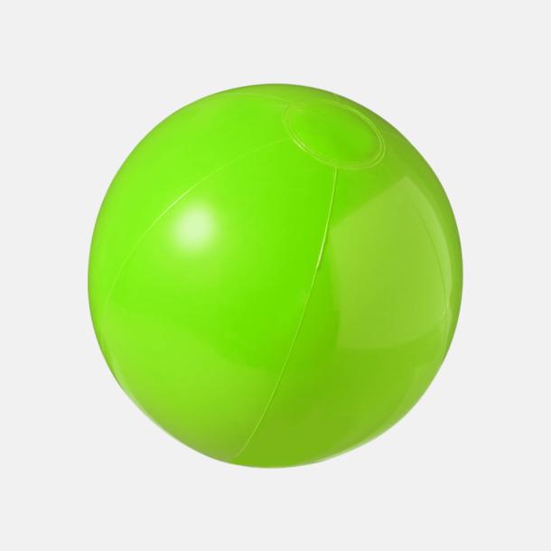 Grön (solid) Badbollar i solida och transparenta färger med reklamtryck