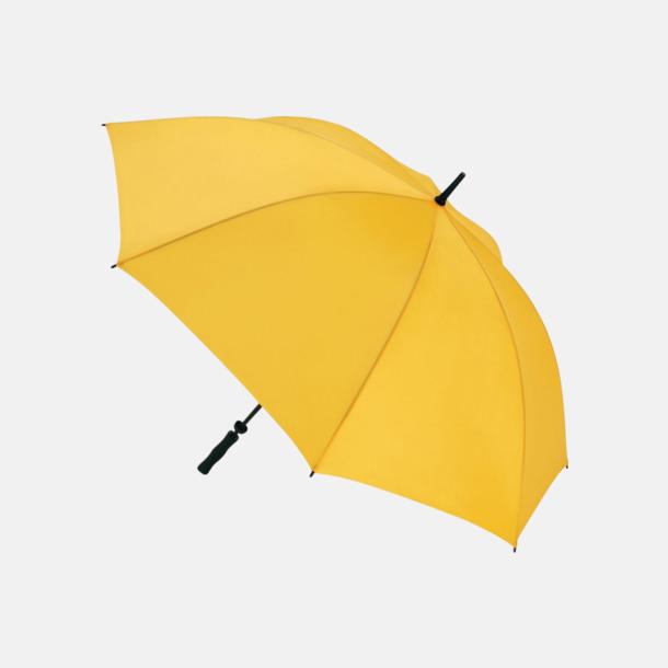 Gul Golfparaplyer med eget reklamtryck