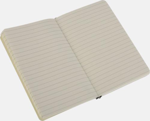 Ruled (linjerad) Moleskines mjuka anteckningsböcker i mindre format (ca A6) - med reklamtryck