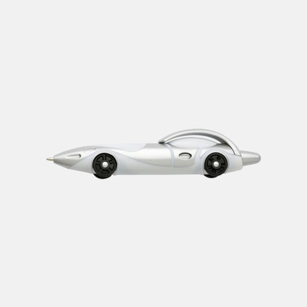 Vit Bilformade bläckpennor med reklamtryck