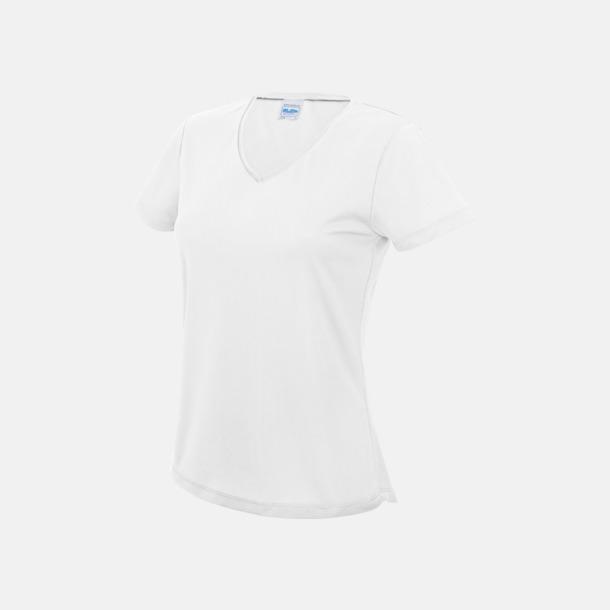 Arctic White Damtröjor i funktionsmaterial med reklamtryck