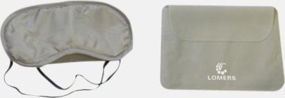 Sovmask och fodral (ljusgrå) Reseset för lugna resor - med reklamtryck