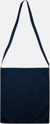 Marinblå Färgglada bomullskassar med reklamtryck i slingmodell