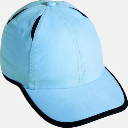 Ljusblå/Marinblå Vind-och vattenavvisande kepsar med reklambrodyr