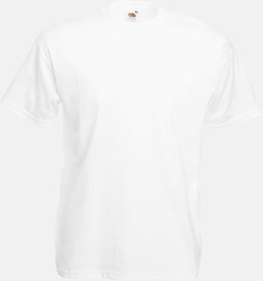 Vit Valueweight t-shirt med tryck