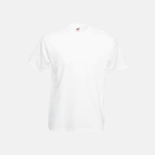 Vit Valueweight t-shirt med tryck