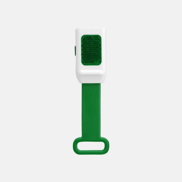 Grön Reflexlampor som är lätta att fästa - med reklamtryck