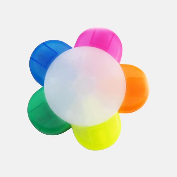 Vit Smart överstrykningspenna i fem färger