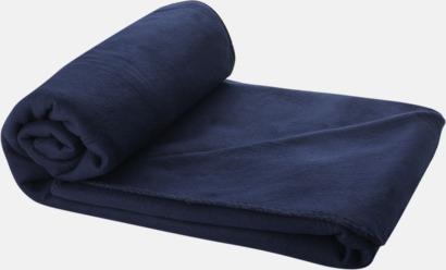Marinblå Fleecefilt och bag - med tryck