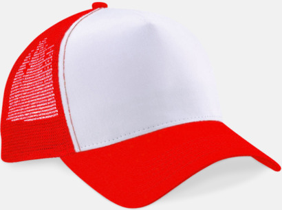Classic Red/Vit Truckerkepsar med tryck eller brodyr