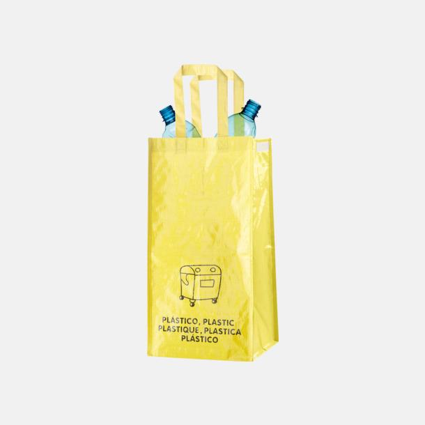 Plast Set med 3 återvinningskassar i återvunnet material