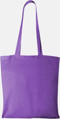 Lavendel Klassiska tygkassar med reklamtryck
