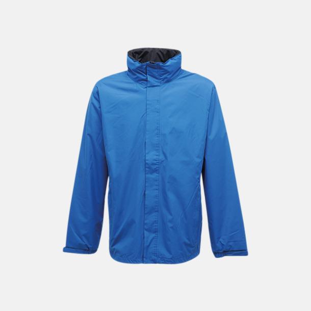 Oxford Blue/Seal Grey (solid) Vind- & regnjacka i herrmodell med reklamtryck
