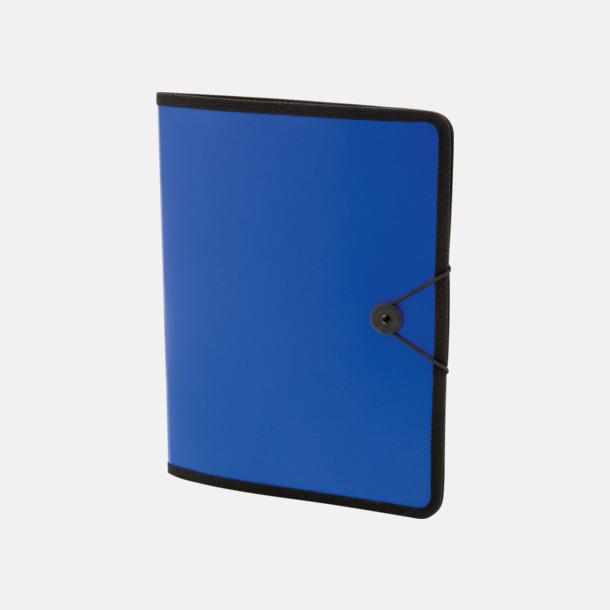 Blå Konferensmappar i färgad plast - med reklamtryck