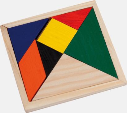 Ljust trä Kinesiska tangram med reklamtryck