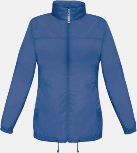 Royal Blue (dam) Vind- och vattentäta jackor för dam, herr och barn - med tryck