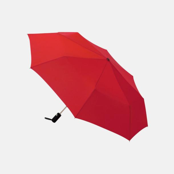 Röd Kompaktparaplyer med automatisk uppfällning - med reklamtryck