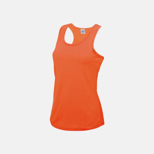 Electric Orange (dam) Enfärgade funktionslinnen i unisex-, dam & barnmodell med reklamtryck