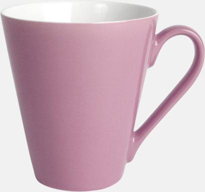 Rosa Klassiskt kaffekopp i mångar fina färger