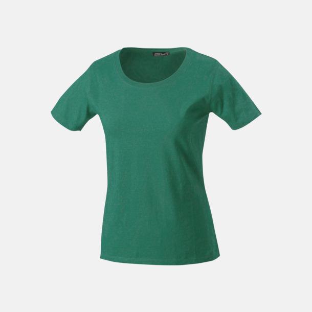 Mörkgrön T-shirtar av kvalitetsbomull med eget tryck