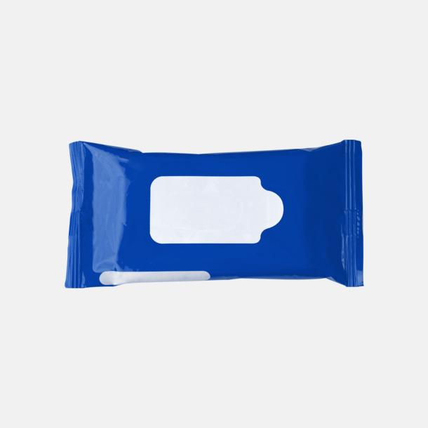 Blå Box med 10 pre-fuktade näsdukar - med reklamtryck