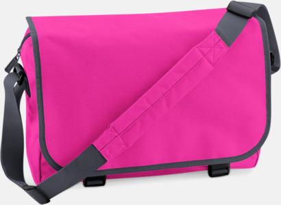Fuchsia/Graphite Grey Billiga väskor med reklamtryck