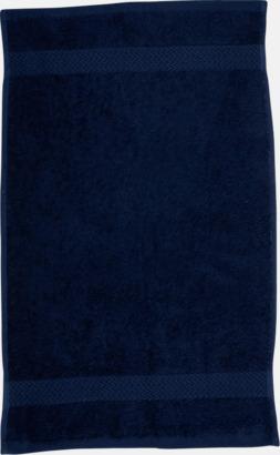 Marinblå Kvalitetshandduk med egen brodyr