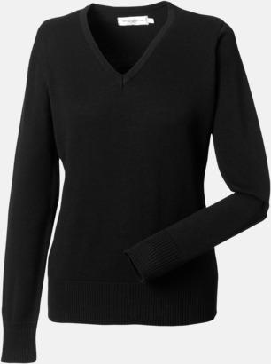 Svart (dam) Pullovers i herr- och dammodell med reklamlogo