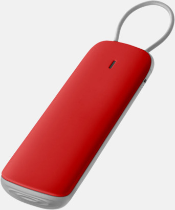 Röd Exklusiva nödbatterier med reklamtryck