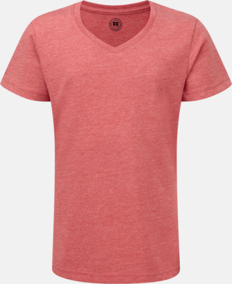 Red Marl (v-neck flicka) Barn t-shirts i u- och v-hals med reklamtryck