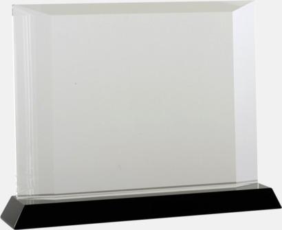 Liggande Kristalltroféer i två storlekar med reklamtryck