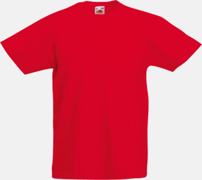 Red T-shirt barn - Valueweigth barn t-shirt