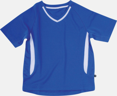 Blå / Vit Snabbtorkande funktionströja med eget tryck eller bordyr