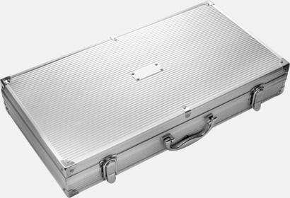 Silver Grillbestick i set, stålväska med egen lasergravyr