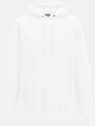 Arctic White Billiga collegetröjor i unisexmodell - med tryck