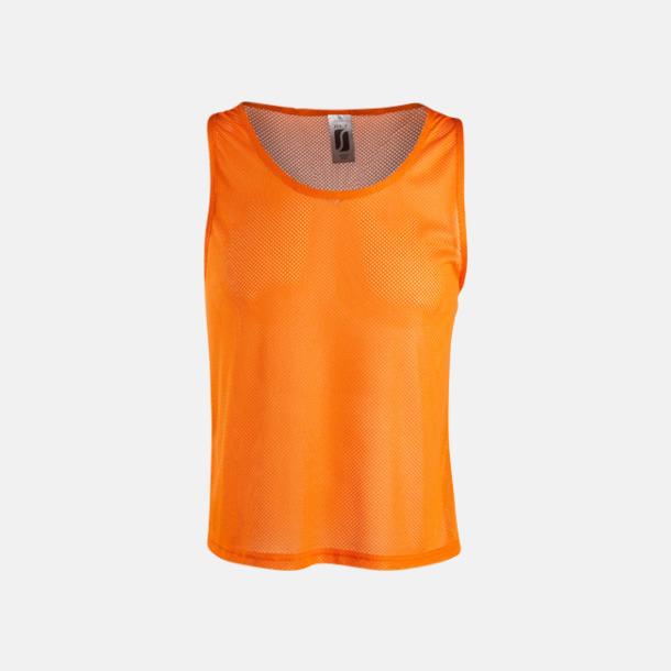 Orange Träningsvästar med reklamtryck