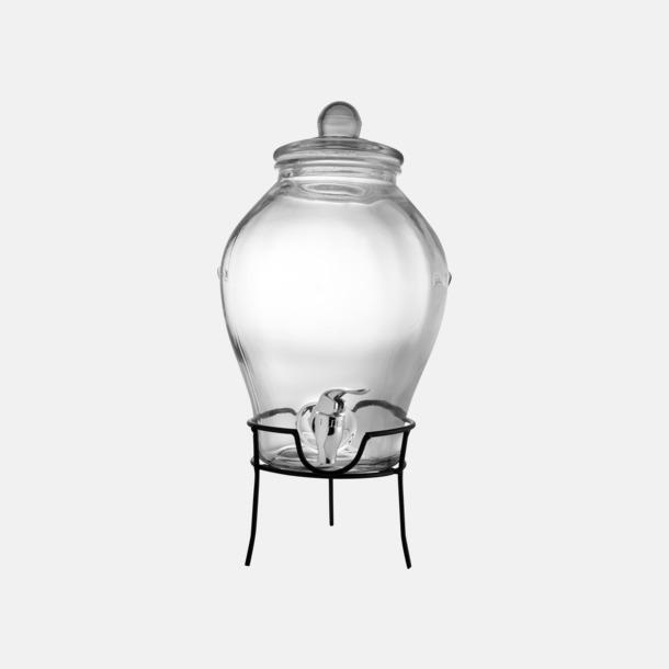 Transparent / Svart Fin glaskaraff med metallstänning