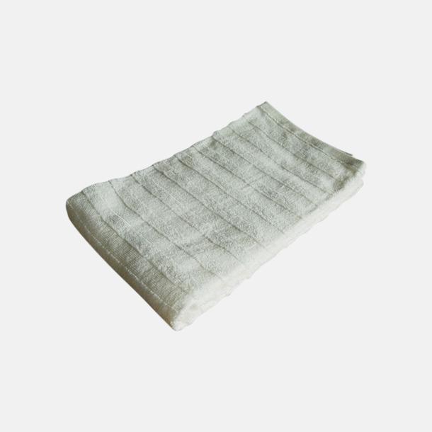 Vit Långa handdukar för bastun - med brodyr