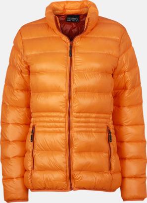 Orange/Rust (dam) Herr- och damdunjackor med tryck